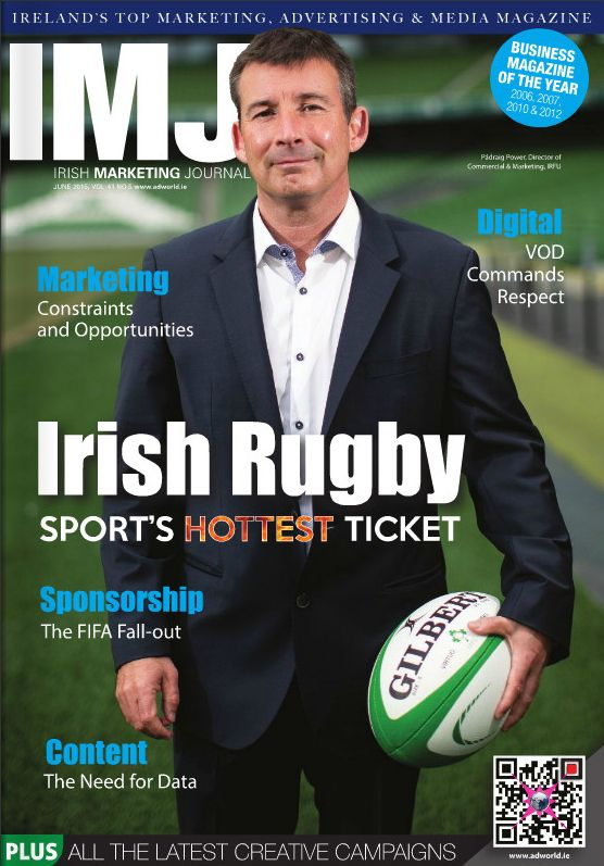 As the countdown to #rwc2015 continues,Padraig Power of @irishrugby talks to IMJ about the Irish rugby brand.