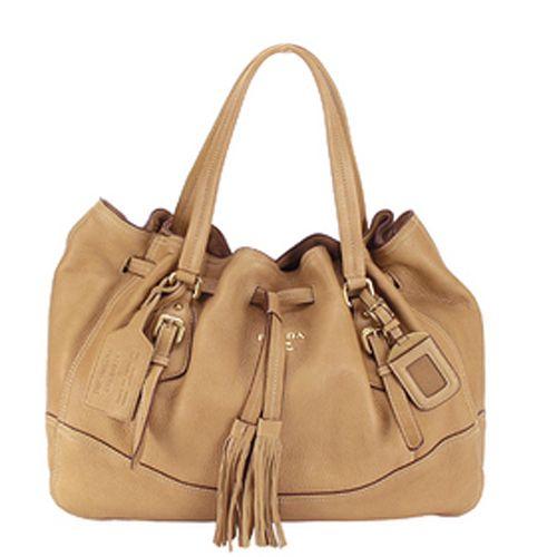The Prada BR3571 Vitello Daino Leather Shoppers Handbag is a ...