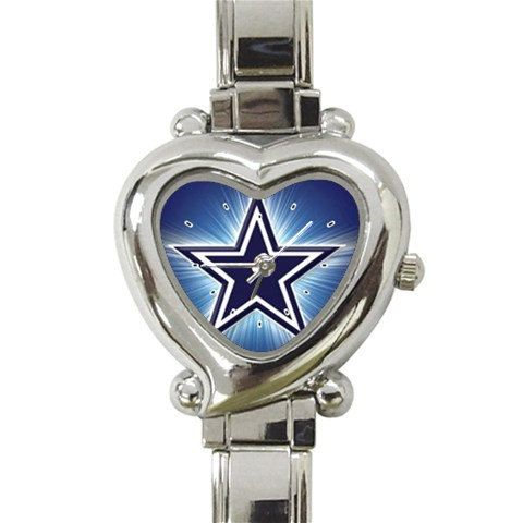 Dallas Cowboy Heart Italian Charm Watch by StevenGifts on Etsy, $10.99
