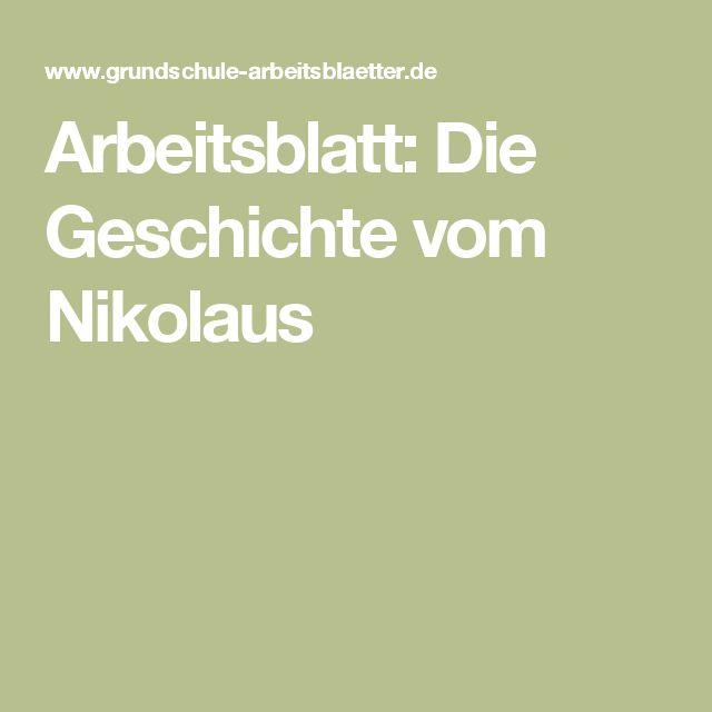 Arbeitsblatt: Die Geschichte vom Nikolaus