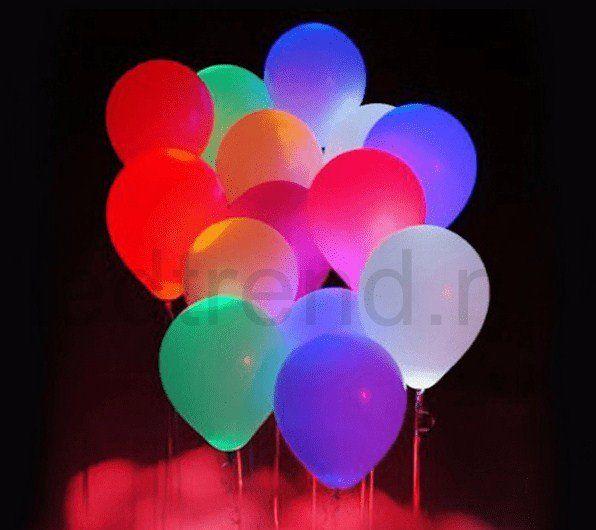 Ballonger med LED-lys   Er det her det er LED-party?  Du finner de hos ledtrend.no