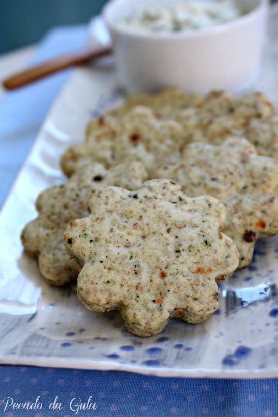 receita de biscoito salgado, receita de biscoito com ervas e sementes, receita de pate de ricota