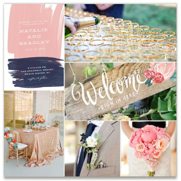 Gold Navy Pink Inspiration Inspiration Board Curated By Rachel At