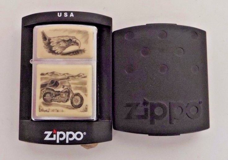 SOLD $29.99 2006 Zippo Harley Davidson Motorcycle Scrimshaw Lighter with Eagle #Zippo