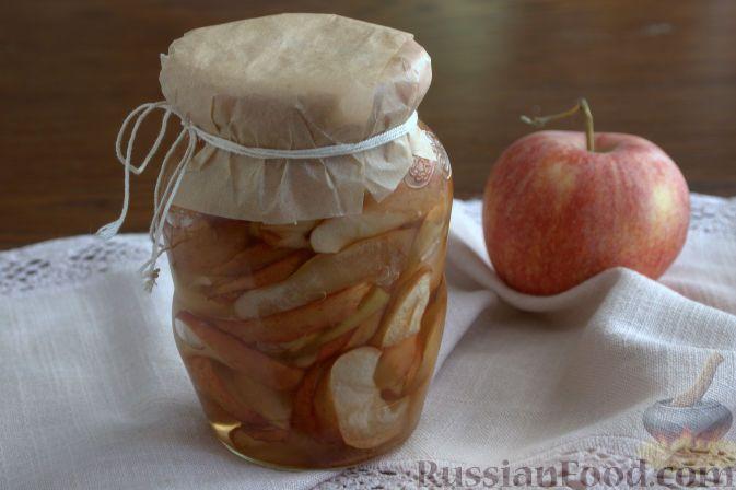 Рецепт: Консервированные яблоки в карамели на RussianFood.com