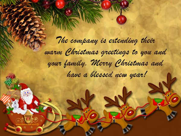 Merry Christmas Greetings from Employees | Happy merry ...