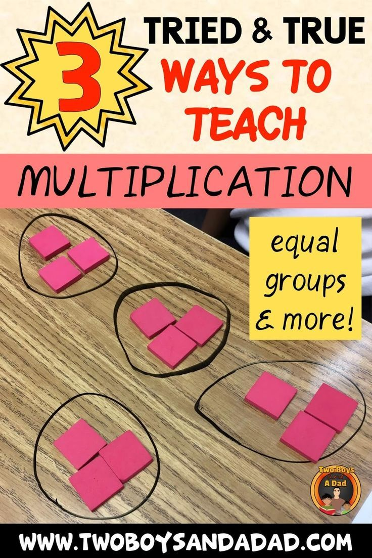 3 Tried and True Ways on How to Teach Multiplication
