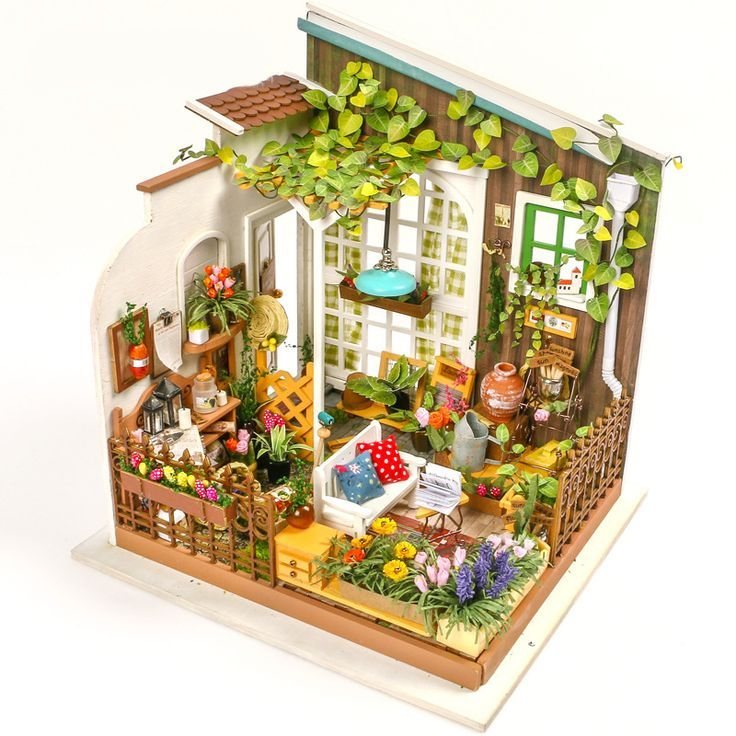 Holzbausatz Puppenhaus mit Möbel zumselber bauen /&gestalten 3D Puzzle Dollhouse