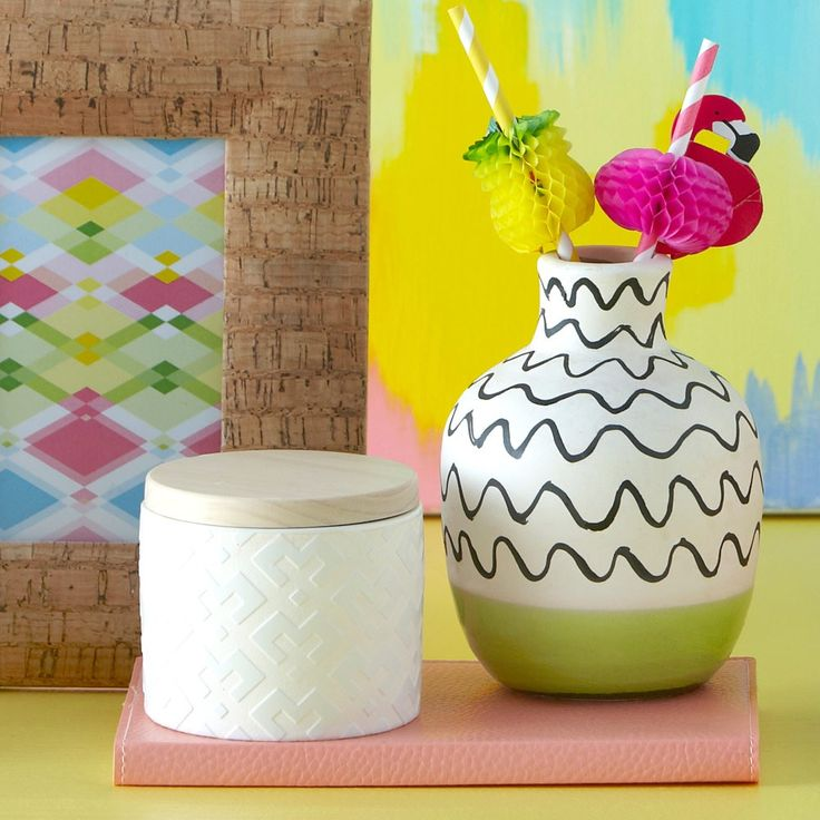 Lime Graphic Vessel Small | New Arrivals | Homeware - Me and My Trend