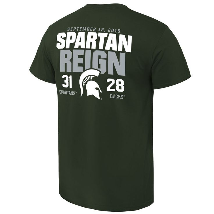 Michigan State Spartans vs. Oregon Ducks 2015 Score T-Shirt - Green