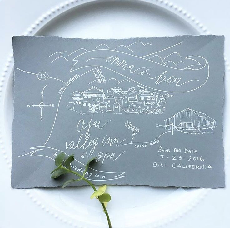 California Map Rancho Mirage%0A Ojai  CA illustrated map with white foil print on hand torn paper  www copperwillow