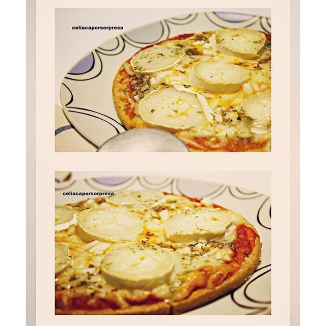 Ya en el blog #pizza #singluten de #quesorulodecabra con base de @merkabio https://celiacaporsorpresa.com/2016/05/10/pizza-de-queso-rulo-de-cabra-horno/ #glutenfree #pizzatime #celiacaporsorpresa #instafood #delicious #riconudo #instapizza #merkabio