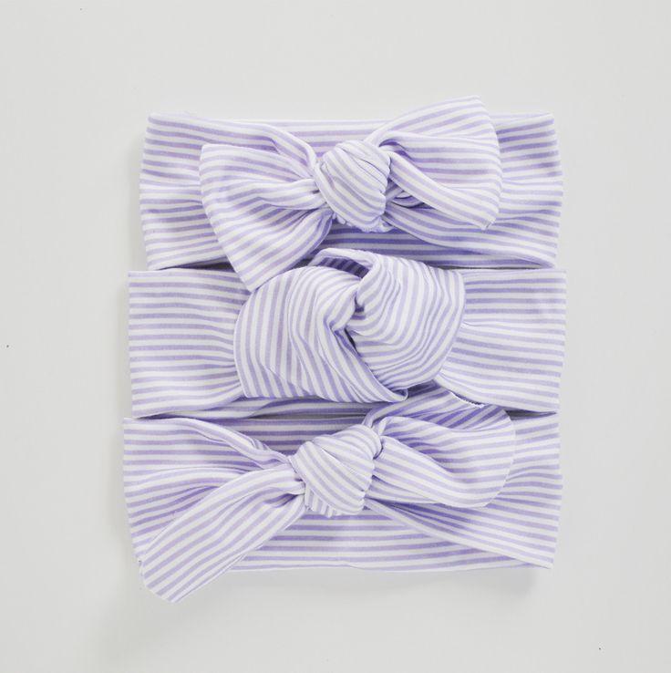 Organic Lavender Pinstripe Headband