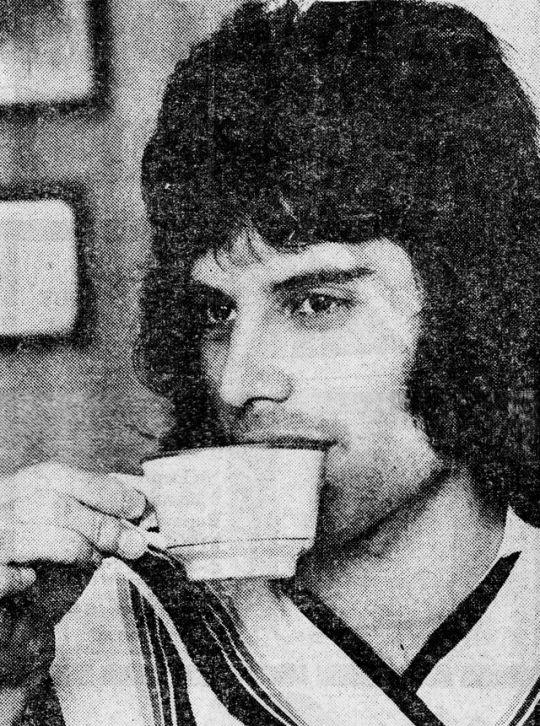 Freddie Mercury. Queen. 1970s.