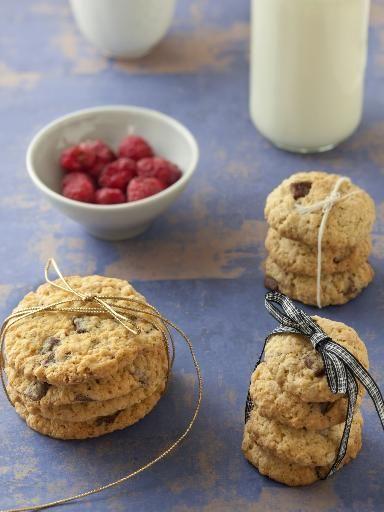 Cookies pépites aux flocons d'avoine : Recette de Cookies pépites aux flocons d'avoine - Marmiton