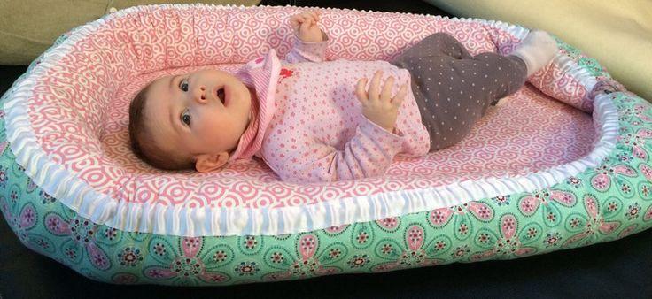 Nestchen - Babynest Größe M Tante Ema Stoff - ein Designerstück von lille_pernille bei DaWanda