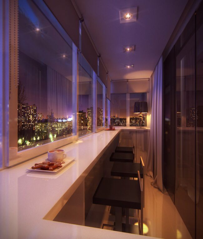 Inside Balcony ~ Imagine sitting here and enjoying your dinner with this incredible view!