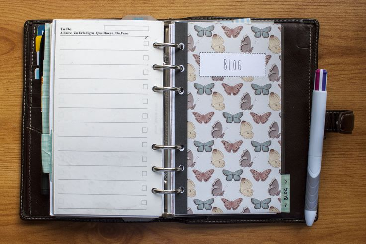 Stationery: Blog Planning with Filofax | Life of Kitty