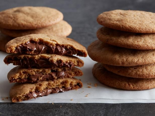 Recipe of the Day: Nutella-Stuffed Cookies Even crispy-cookie lovers won't be able to resist these gooey-in-the-middle treats. Chilling chocolate-hazelnut spread makes it easier to use as a filling for these molten-center goodies. Eat them warm or even cooled — there won't be any left for the cookie jar.