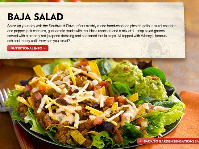 Wendys Menu Salads Do you, Salads and Fun...