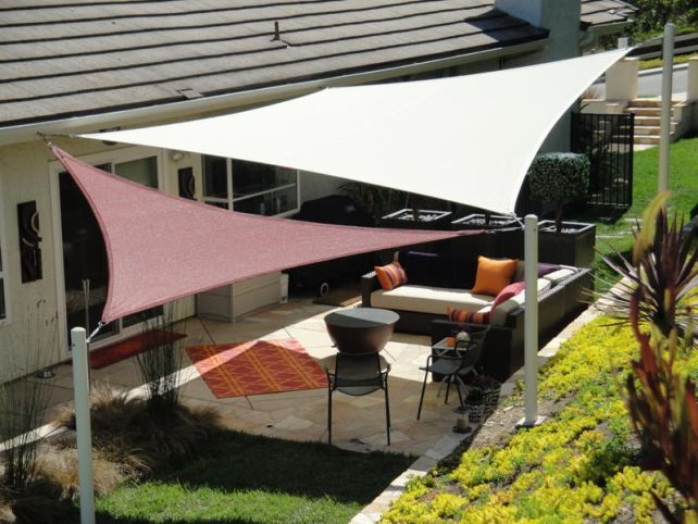 Sun Sail Shade Triangle Google Search Backyard Ideas Pinterest