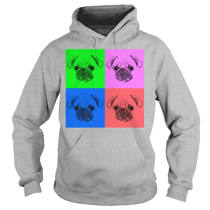 Mens Pug Pop Art TShirt  Mens TShirt