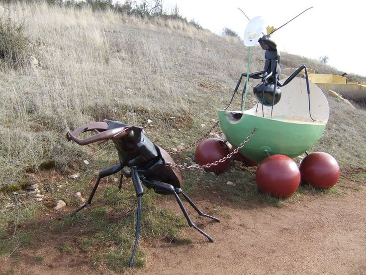 Giant stag beetle in Micropolis, City of Insects near Millau, France