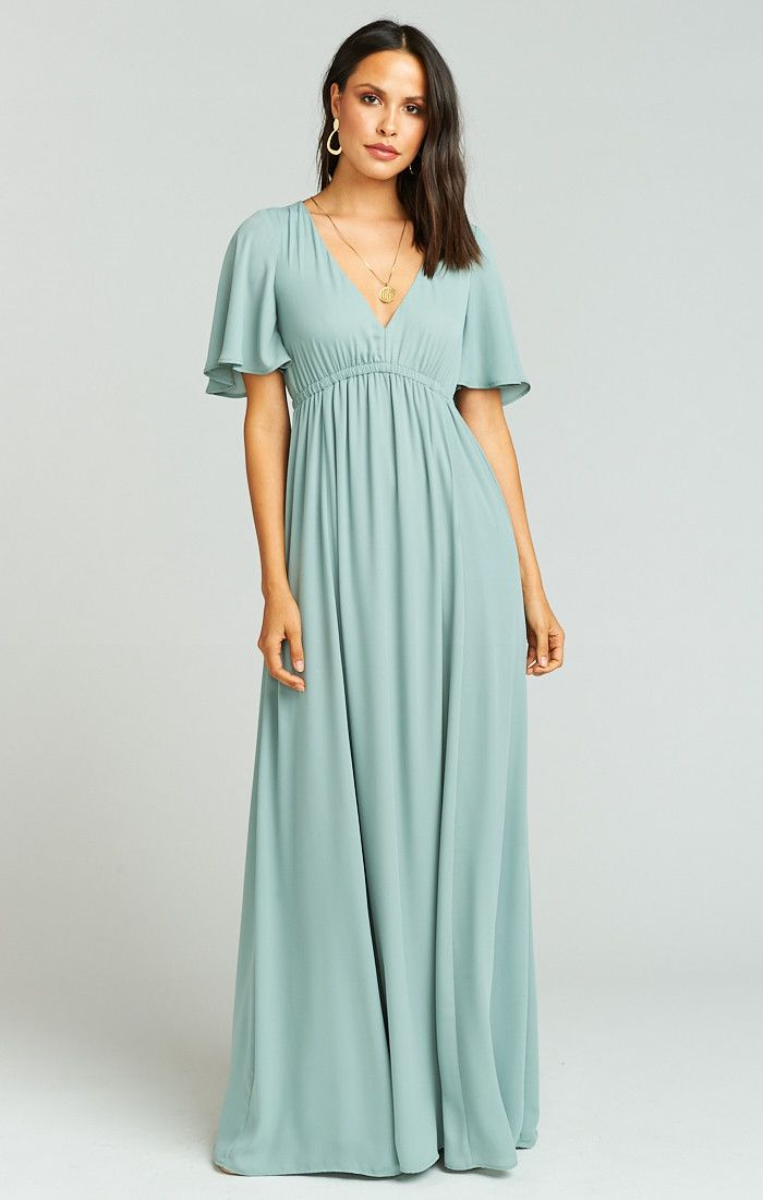 0274a9337bab24 Emily Maxi Dress ~ Silver Sage Crisp in 2019