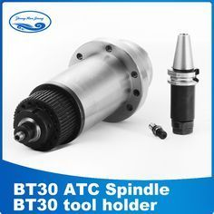 cnc spindle bt30 synchronous belt drive cnc milling machine BT30 ATC petal clamp disc spring+drawbar machine tool //Price: $808.57// #gadgets
