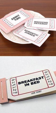 Inspiration DIY - Fun idea to make. Naughty or Nice Vouchers.