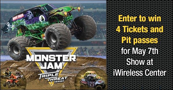 Monster Jam 2017 - Enter your email address for a chance to win 4 Tickets and Pit passes for May 7th Show!
