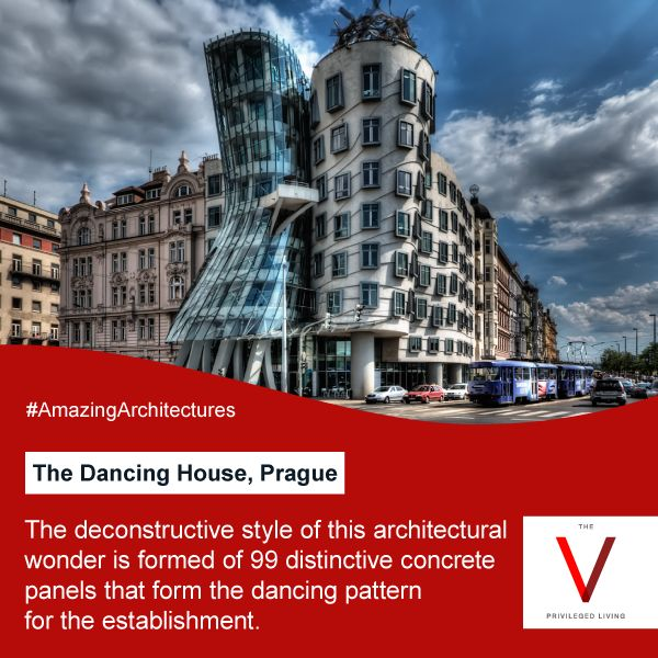 The dancing house also features on the gold coin issued by Czech National Bank. #AmazingArchitectures