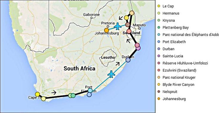 Carte Afrique du Sud 17