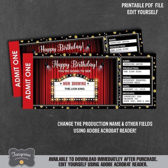 Circus Magic Show Entrance Vector Tickets Templates Download