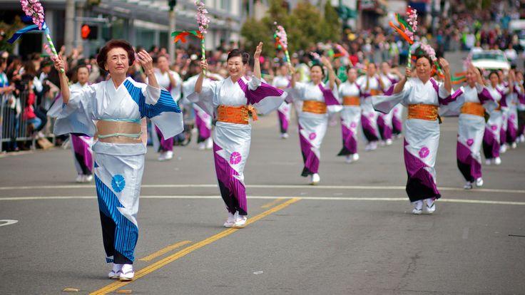 Grand Parade at the San Francisco Cherry Blossom Festival