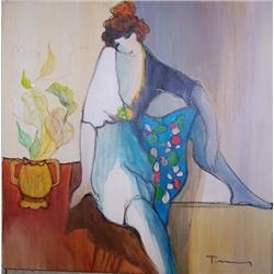 a biography of tarkay a painter and a watercolorist - unframed hand signed original watercolor by the artist patricia govezensky artist tarkay itzchak   suzanne artist biography artist art books artist price request.