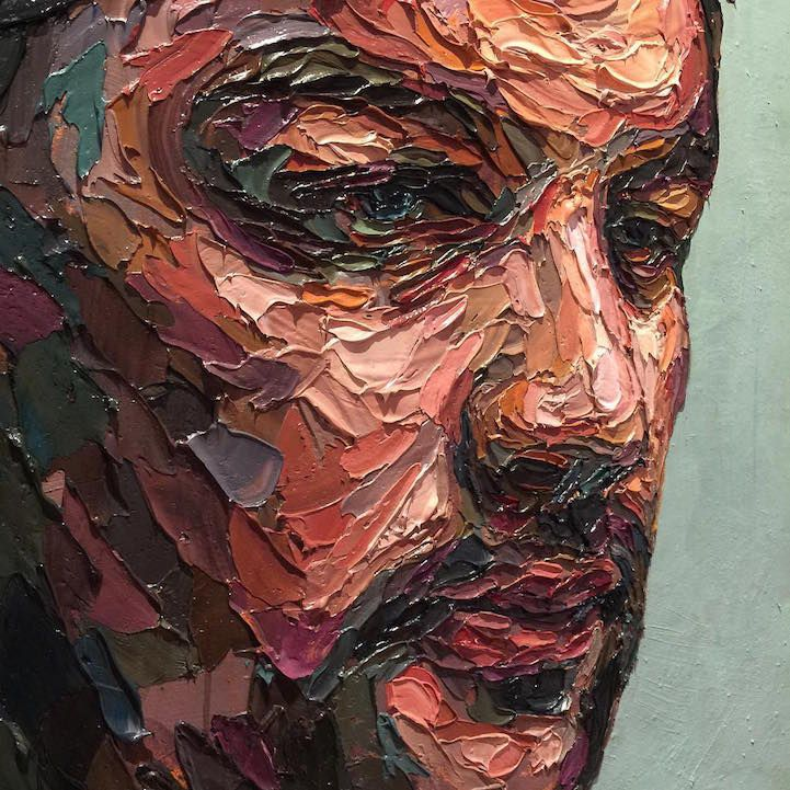 ArtistJoshua Miels' textured paintings pop off the canvas with multicoloured brilliance. Through intricate layering techniques, his vivid painti