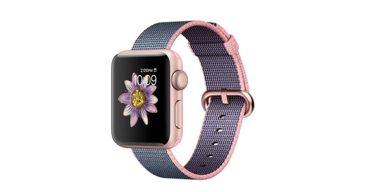 Apple Watch Series 2 featuring built-in GPS in a 38mm Rose Gold Aluminium case with woven nylon strap. Buy now with fast, free shipping.