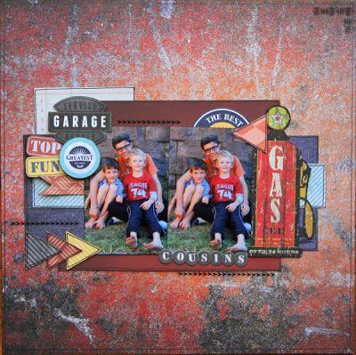 Kaisercraft Garage Days - by Fiona Johnstone