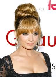 haircuts style 11 best updos with bangs images on wedding 6208