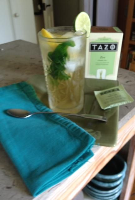 ... with a touch of honey, fresh mint, circles of fresh lemon and lime