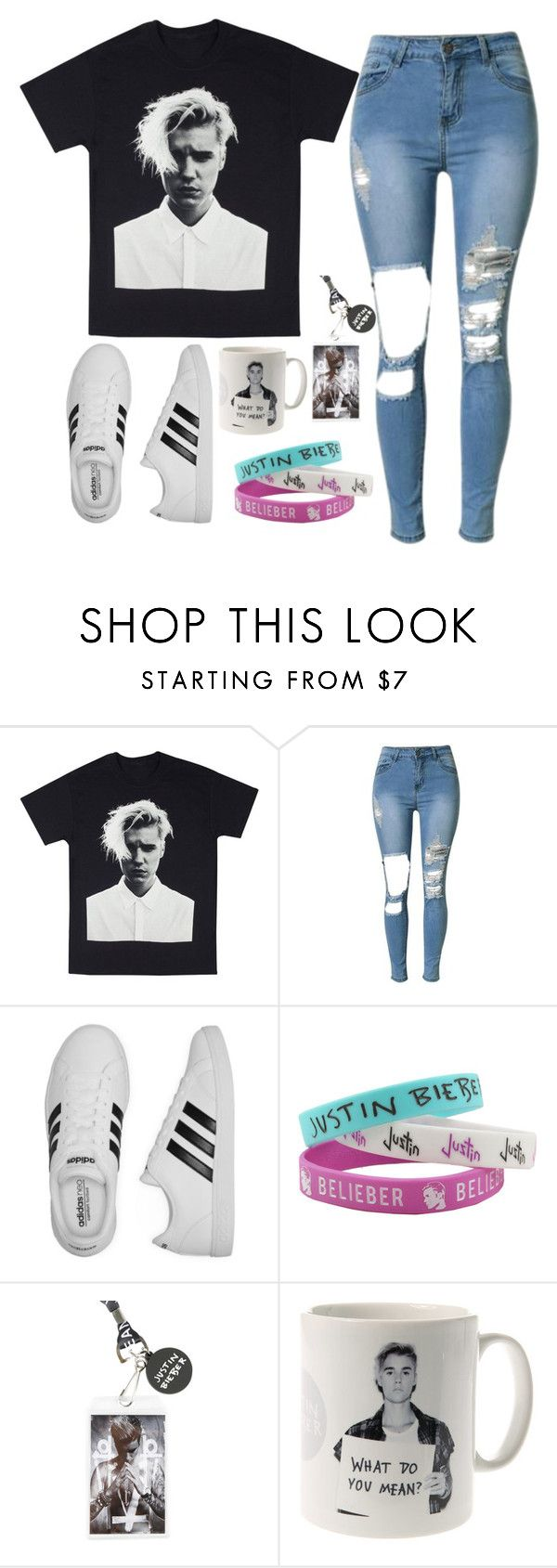 """Justin Bieber  fan outfit"" by madihahnas ❤ liked on Polyvore featuring adidas and Justin Bieber"