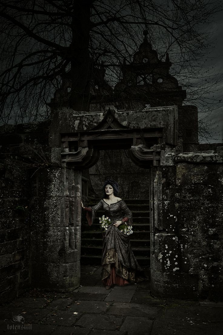 Gothic, Ruin, Victorian, Waterhouse, Digital Paint, Collage