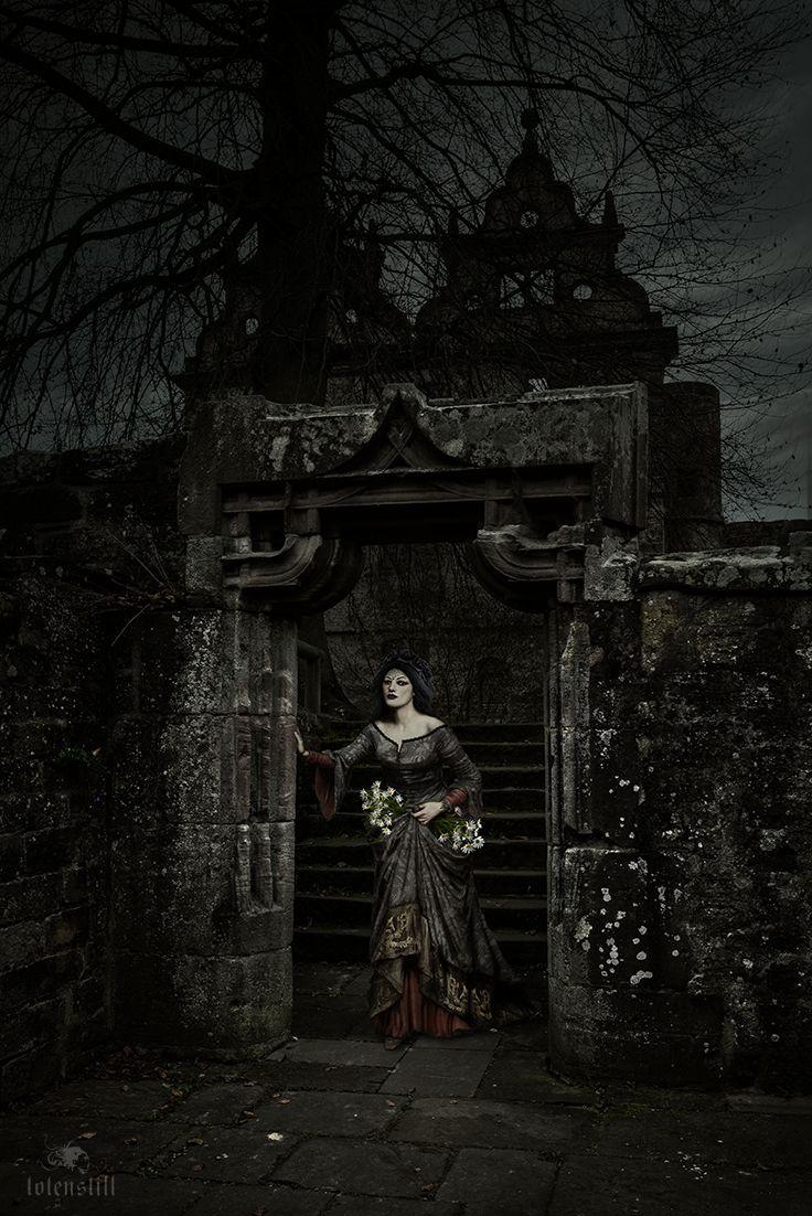 Gothic, Ruin, Victorian, Waterhouse, Digital Paint, Collage