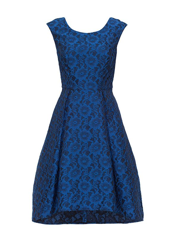 Honeymoon Fit & Flare Dress in Royal Blue