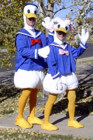 Donald and Daisy Duck Couples Costume Idea #Funny Couples Halloween Costume Ideas #Couples #Halloween #Costumes