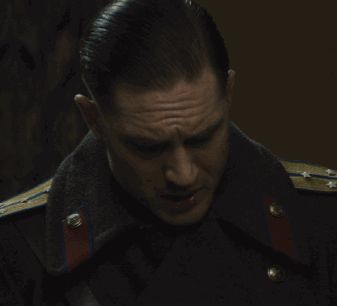 #gif_of_hardy Tom Hardy as Leo Demidov in Child 44