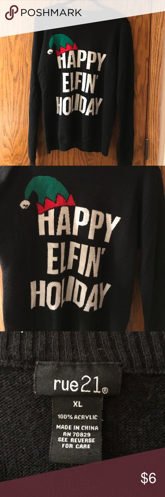 Ugly xmas sweater Crew neck funny ugly xmas sweater Rue21 Sweaters Crew & Scoop Necks
