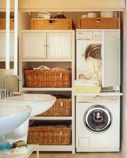 Laundry Room - add a pull out table under the stackable w/d to fold clothes as you take them out of the dryer!