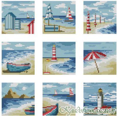 Морские миниатюры - Морские пейзажи - Морская тематика - Схемы в XSD - Кладовочка схем - вышивка крестиком